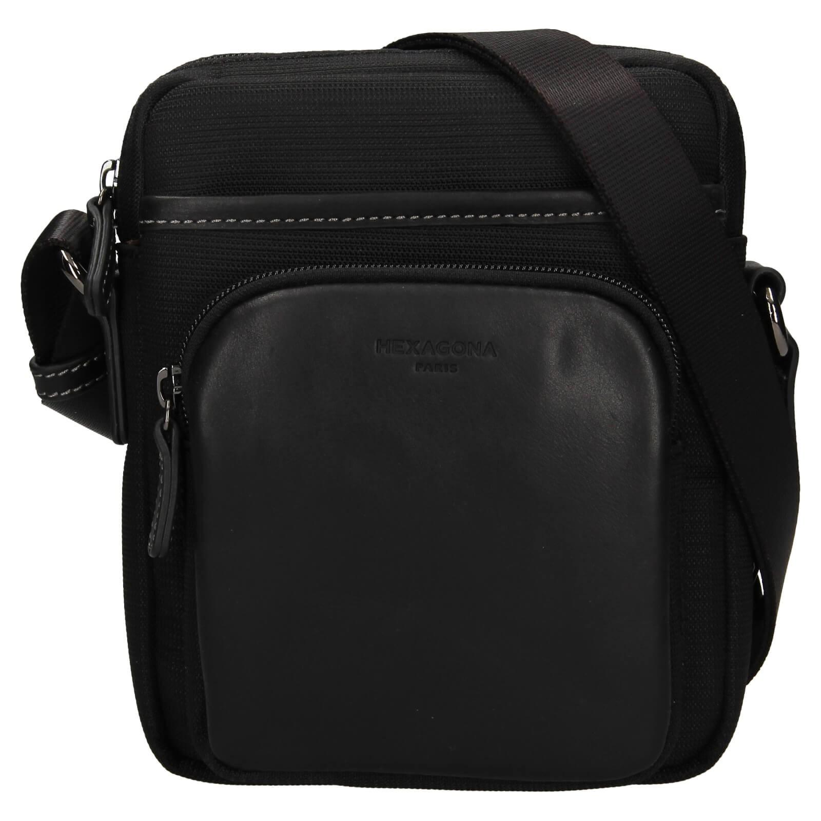 Pánska taška na doklady Hexagona Fonce - čierna