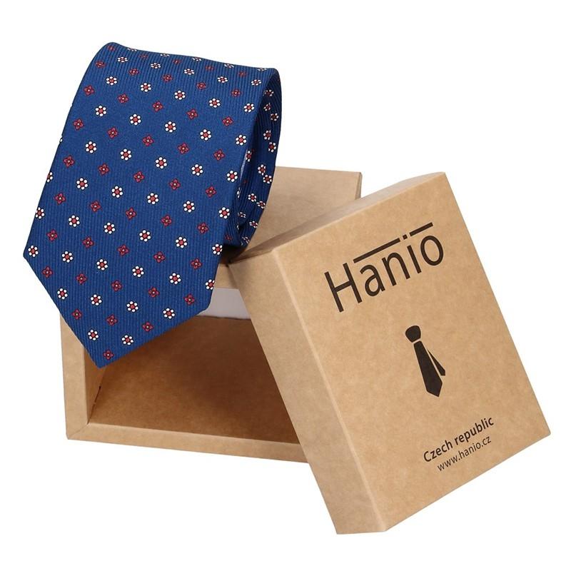 Pánska hodvábna kravata Hanio Klop - modrá