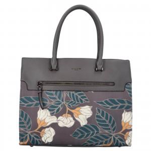 Dámska kabelka David Jones Flower - tmavo šedá