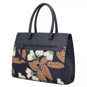 Dámska kabelka David Jones Flower - tmavo modrá