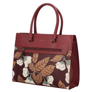 Dámska kabelka David Jones Flower - vínová