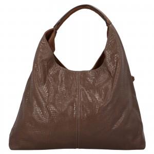 Dámská kabelka přes rameno Paolo Bags Květa - tmavo hnedá