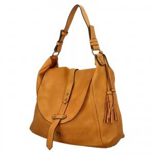 Dámská kabelka přes rameno Paolo Bags Květa - žltá