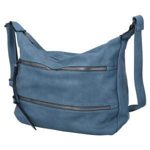 Dámska crossbody kabelka Paolo Bags Helena - svetlo modrá
