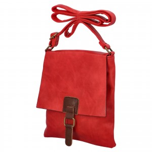 Dámska crossbody kabelka Paolo Bags Ivana - červená