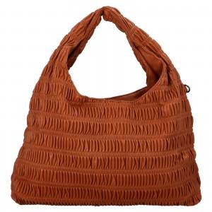 Dámska kabelka cez rameno Paolo Bags Jitka - koňak