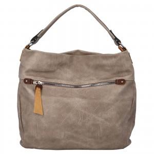 Dámska kabelka cez rameno Paolo Bags Jiřina - tmavo béžová