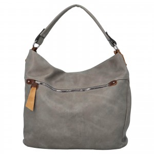 Dámska kabelka cez rameno Paolo Bags Jiřina - šedá