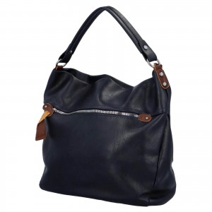 Dámska kabelka cez rameno Paolo Bags Jiřina - tmavo modrá