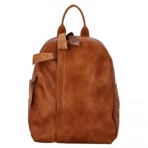 Dámsky batoh Paolo Bags Alice - koňak