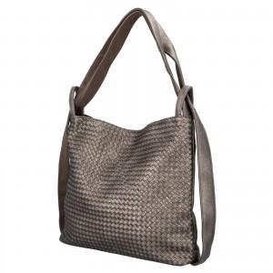 Dámska kabelka cez rameno Paolo Bags Norra - strieborna