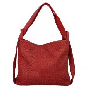 Dámska kabelka cez rameno Paolo Bags Norra - červená
