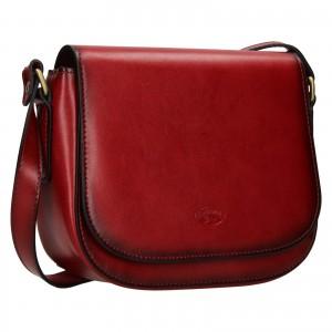 Kožená dámska crosbody kabelka Katana Klára - červená