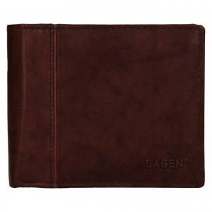 Pánska kožená peňaženka Lagen Levi - hnedá
