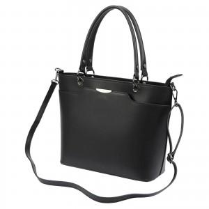 Dámska kožená kabelka Vera Pelle Inela - černá