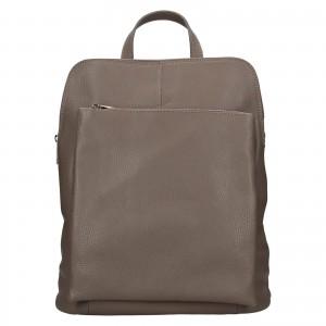 Kožený dámsky batoh Unidax Marion - šedá