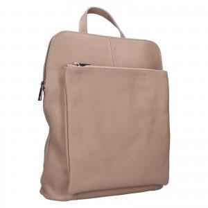 Kožený dámsky batoh Unidax Marion - svetlo ružová