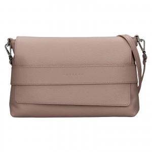 Dámska kožená kabelka Facebag Fabia - ružová