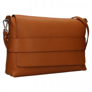 Dámska kožená kabelka Facebag Fabia - koňak