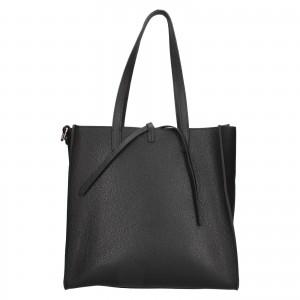 Dámska kožená 2v1 kabelka Facebag Liama - čierna