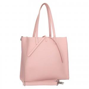 Dámska kožená 2v1 kabelka Facebag Liama - ružová