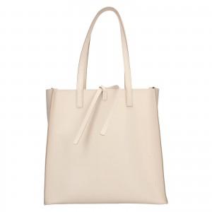 Dámska kožená 2v1 kabelka Facebag Liama - béžová
