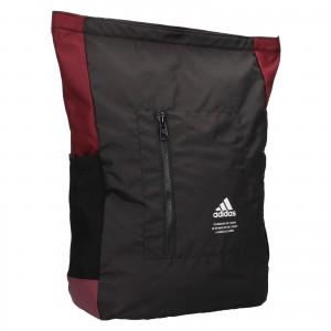 Batoh Adidas Chris - čierno-vínová