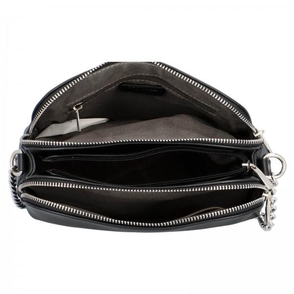 Dámska crossbody kabelka David Jones Petresca - čierna