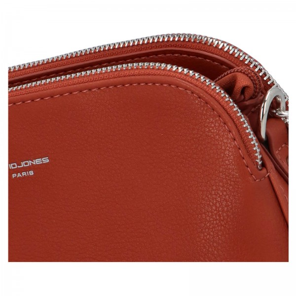 Dámska crossbody kabelka David Jones Petresca - oranžovo- hnedá