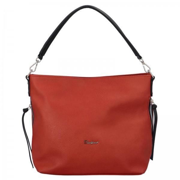 Dámska kabelka David Jones Aniala - oranžovo-hnedá