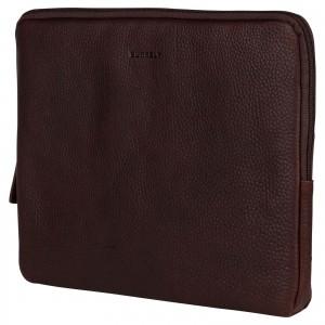 """Kožený obal na notebook 13,3"""" Burkely Lenok - tmavo hnedá"""