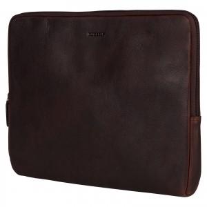 """Kožený obal na notebook 15,6"""" Burkely Gast - tmavo hnedá"""