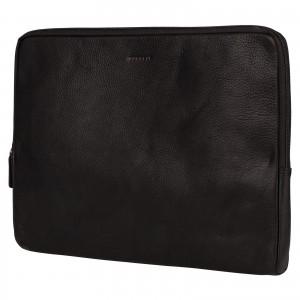 "Kožený obal na notebook 15,6"" Burkely Gast - čierna"