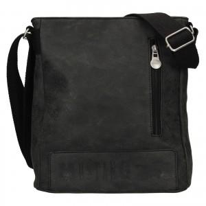 Pánska taška cez rameno Mustang Kevins - čierno-šedá