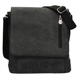 Pánska taška cez rameno Mustang Denis - čierno-šedá