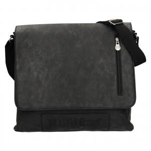 Pánska taška cez rameno Mustang Noah - čierno-šedá