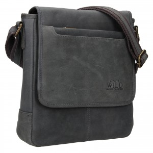 Pánska taška cez rameno Always Wild Artair - tmavo hnedá