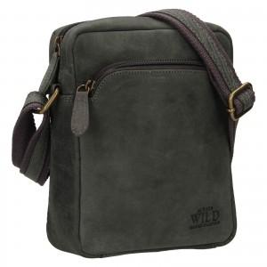Pánská taška přes rameno Always Wild Gregor - čierno-šedá