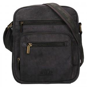 Pánská taška přes rameno Always Wild Luken - čierno-šedá