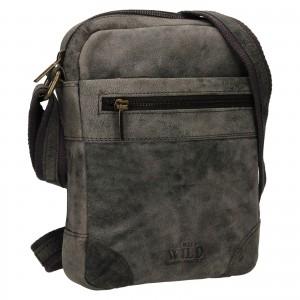 Pánská taška přes rameno Always Wild Ondrej - čierno-šedá
