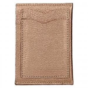 Kožený obal na karty Facebag Leon - ružová