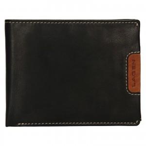 Pánska kožená peňaženka Lagen Koudy - čierno-hnedá