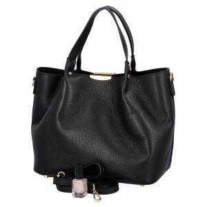 Dámska kožená kabelka Delami Verona - čierna