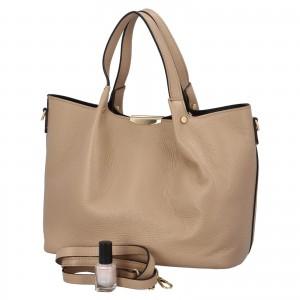 Dámska kožená kabelka Delami Verona - béžová