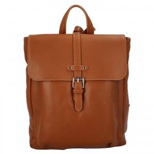 Kožený batoh Delami Nice - koňak