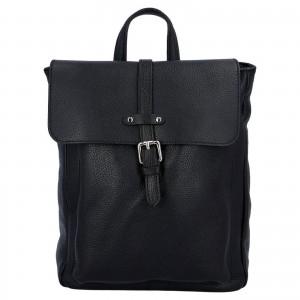 Kožený batoh Delami Nice - čierna