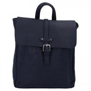 Kožený batoh Delami Nice - tmavo modrá