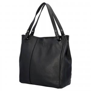 Dámska kožená kabelka Delami Vildea - černá