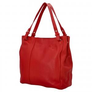 Dámska kožená kabelka Delami Vildea - červená