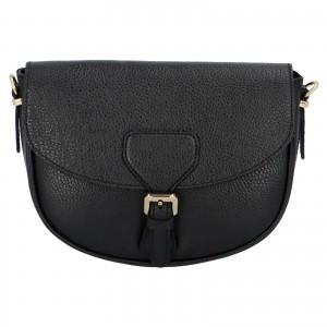 Dámska crossbody kožená kabelka Delami Nisca - čierna